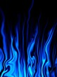 blue fantasy flame