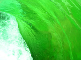 green water swirl poster