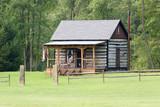 little log cabin poster