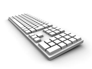 generische tastatur - weiss