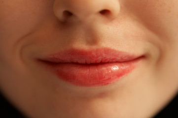 lips of the girl