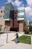 modern university science building poster