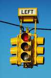 bright yellow traffic light poster