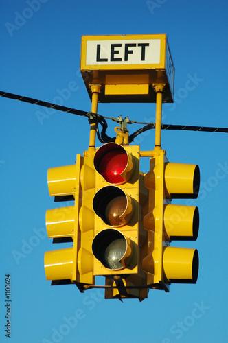 poster of bright yellow traffic light