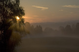 dawn in countryside poster