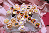 crystal tray with petits fours poster