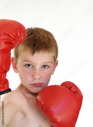boy ready to box