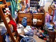 Leinwanddruck Bild - messy bedroom
