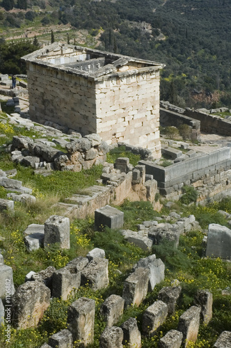 treasury of the athenians, delphi, greece