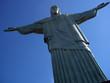 christ the redeemer in rio de janeiro left side