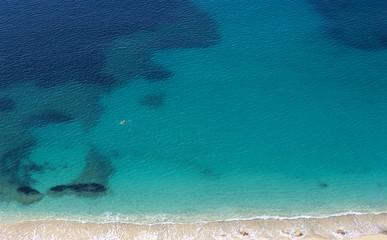 swimmer in the mediterranean