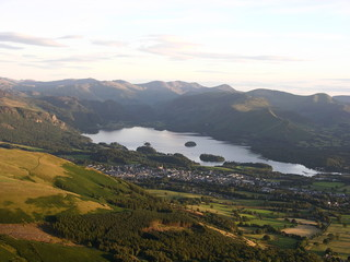 derwentwater and keswick from skiddaw
