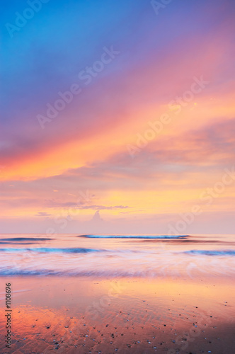 Leinwanddruck Bild sunset landscape