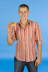 man with burger