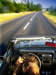 speeding in golf cabrio