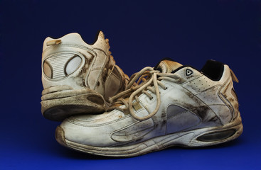 dirty running shoe