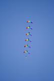 five parachutists poster