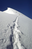 mountaineers climbing up to the summit poster