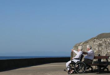 elderly twosome