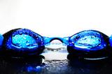 swim goggles poster