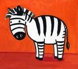 cartoon zebra poster