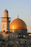 the dome of the rock at sunset - 1119041