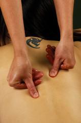 spa massge hands on
