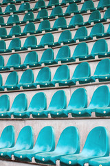 stadium seats in rows