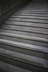 gray marble staircase