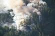 Leinwandbild Motiv mountainside forest fire