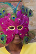 young girl with mask