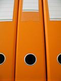 orange folders poster