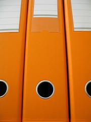 orange folders