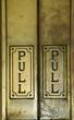 aged door pull plates