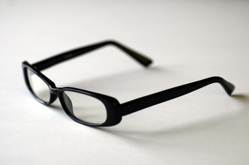 glasses on white with shadow