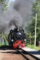 dampflok der fichtelbergbahn