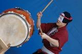 taiko drum performer poster