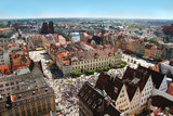 Fototapety wroclaw town market from above