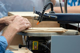 sawing wood poster