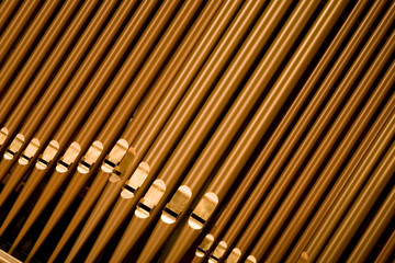 organ pipes at angle