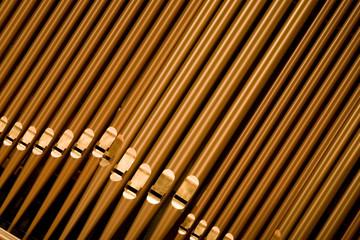 organ pipes at angle