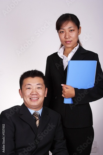 poster of asian executive and secretary
