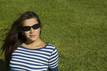 cool shades on green grass