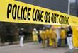canvas print picture - police line-hazmat