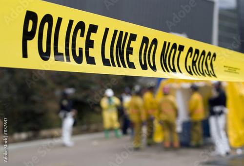 canvas print picture police line-hazmat