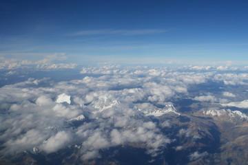 vue des andes depuis le ciel