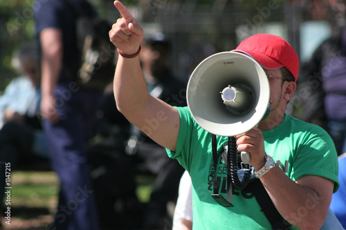 Leinwanddruck Bild protester
