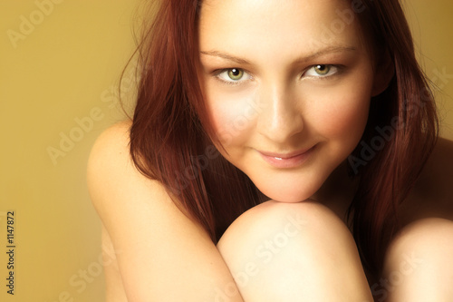 red-haired young woman