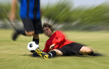 football - soccer - tackle!