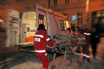 medical team and patient